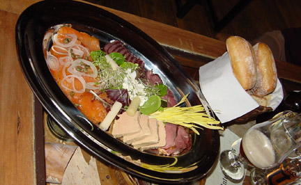 platter of house-smoked salmon, Fouquet Fourchette